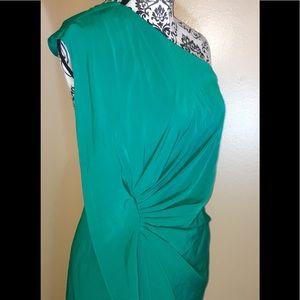 ASOS one shoulder dress size 6 green